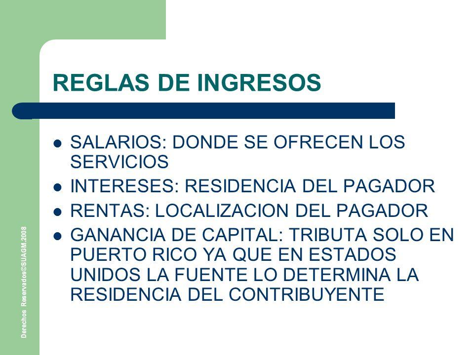 REGLAS DE INGRESOS SALARIOS: DONDE SE OFRECEN LOS SERVICIOS