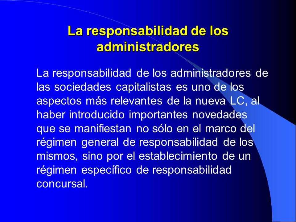 La responsabilidad de los administradores