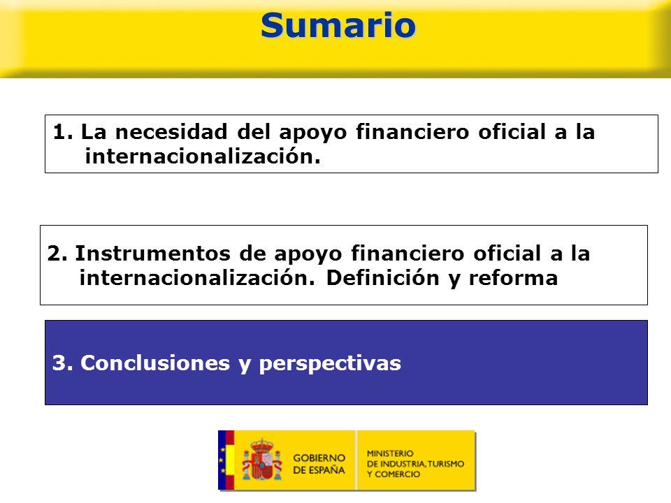 Sumario1. La necesidad del apoyo financiero oficial a la internacionalización.
