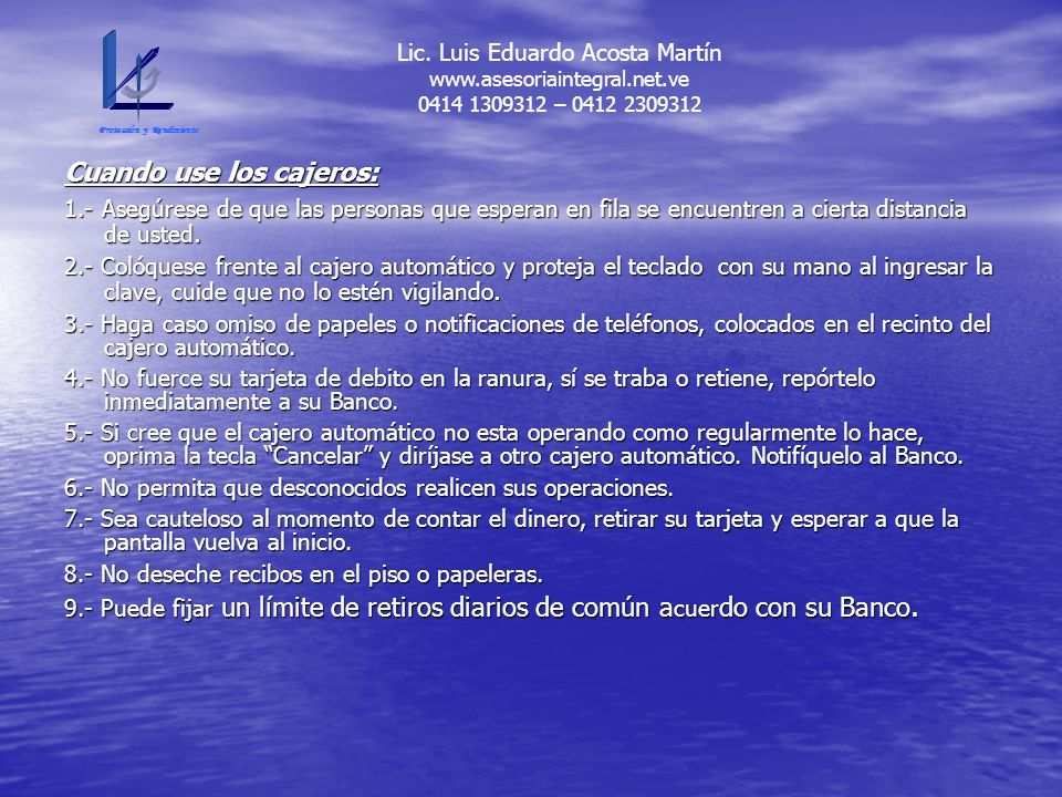 Lic. Luis Eduardo Acosta Martín