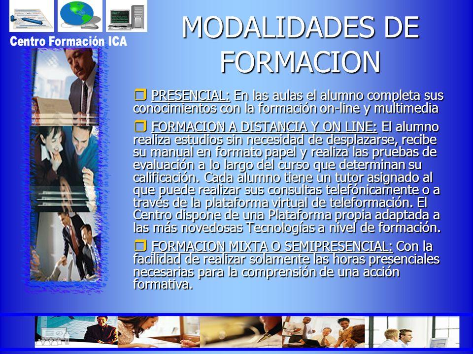 MODALIDADES DE FORMACION