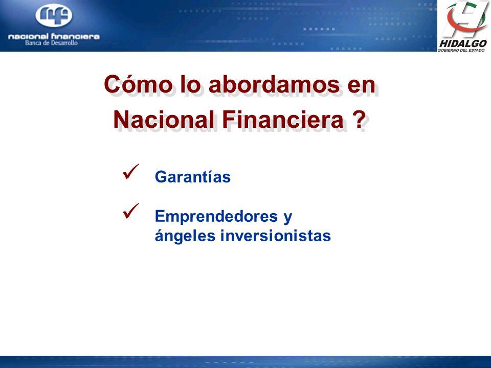 Cómo lo abordamos en Nacional Financiera