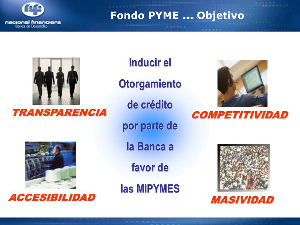 Inducir el Otorgamiento de crédito por parte de la Banca a favor de