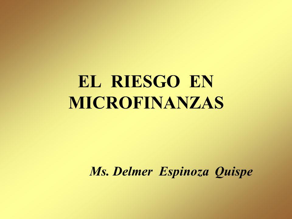 EL RIESGO EN MICROFINANZAS