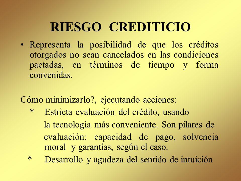 RIESGO CREDITICIO