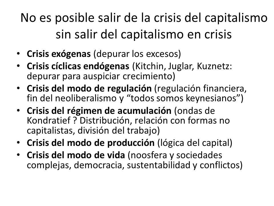 No es posible salir de la crisis del capitalismo sin salir del capitalismo en crisis
