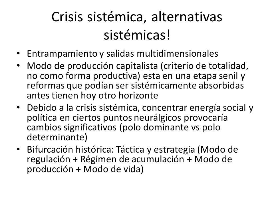Crisis sistémica, alternativas sistémicas!