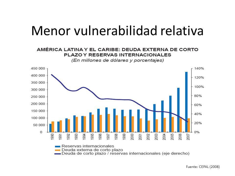 Menor vulnerabilidad relativa