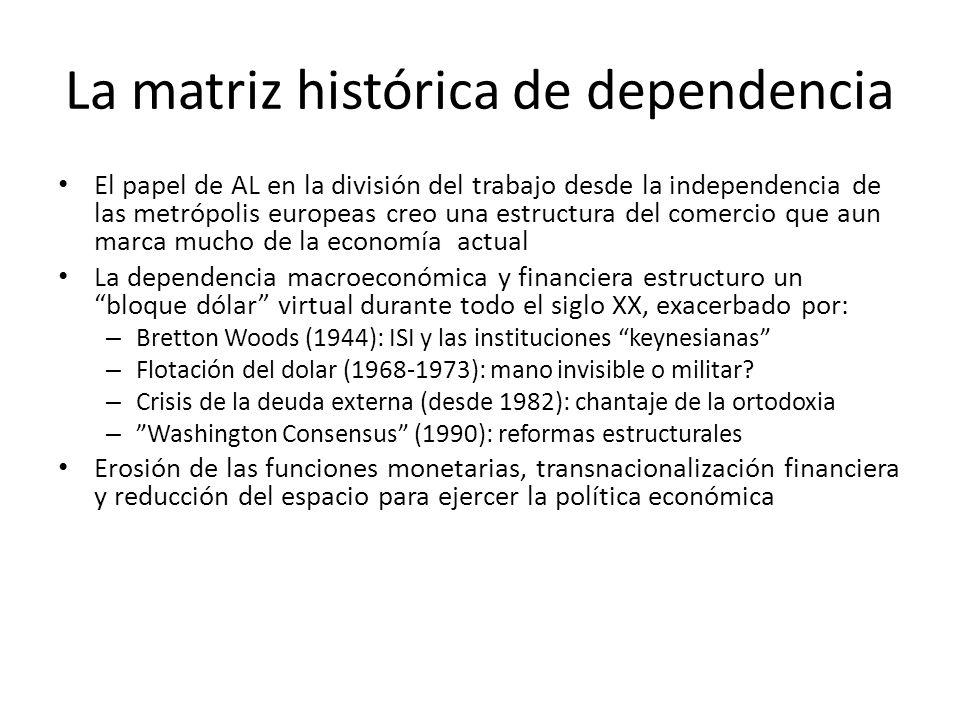 La matriz histórica de dependencia