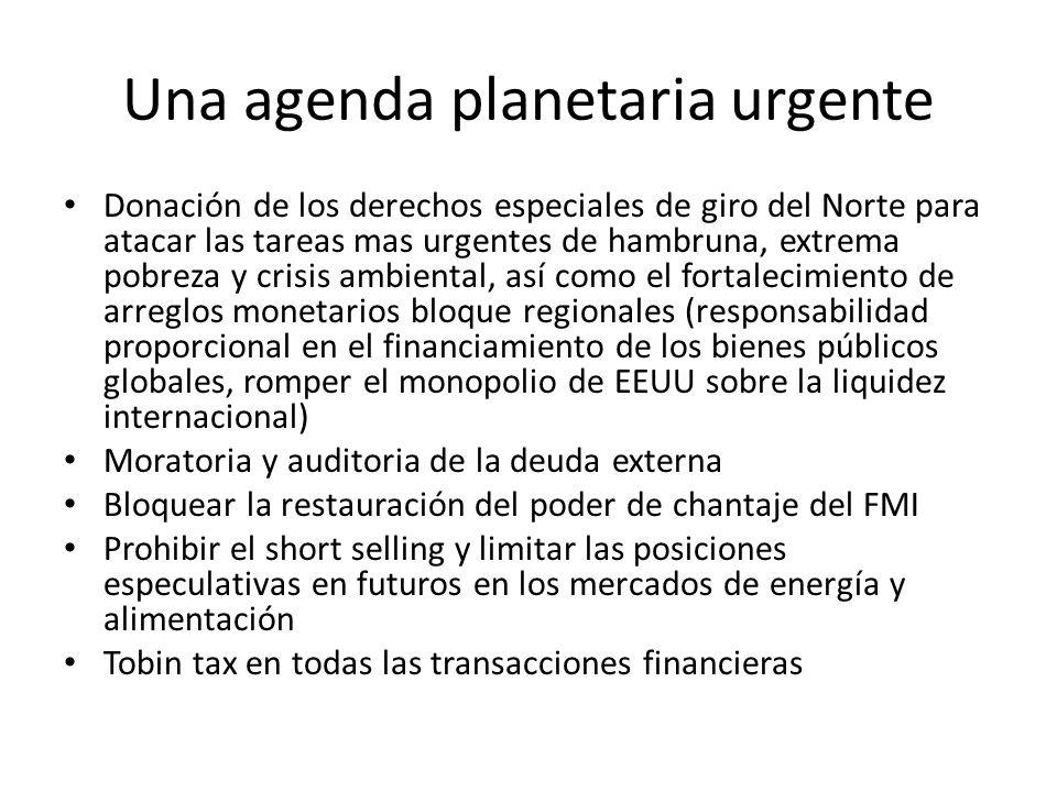 Una agenda planetaria urgente