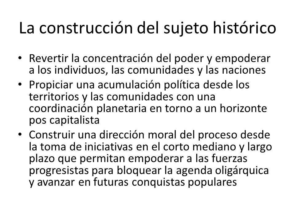 La construcción del sujeto histórico