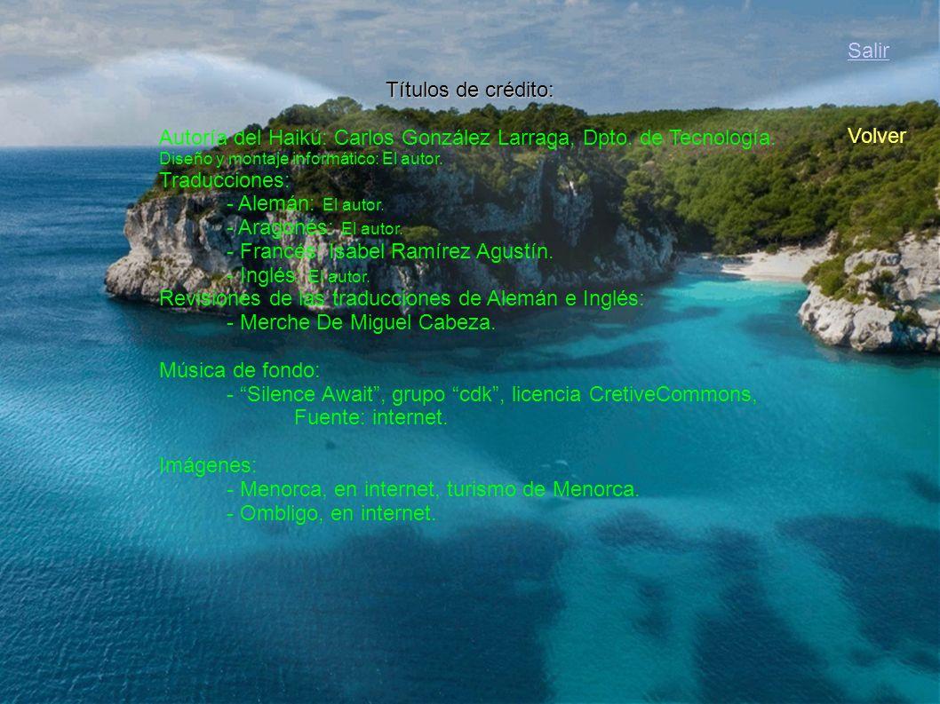 Autoría del Haikú: Carlos González Larraga, Dpto. de Tecnología.
