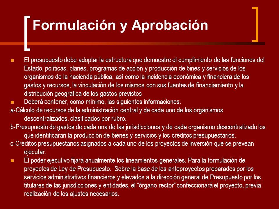 Formulación y Aprobación