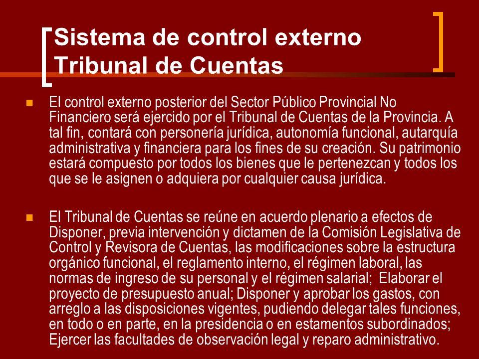 Sistema de control externo Tribunal de Cuentas
