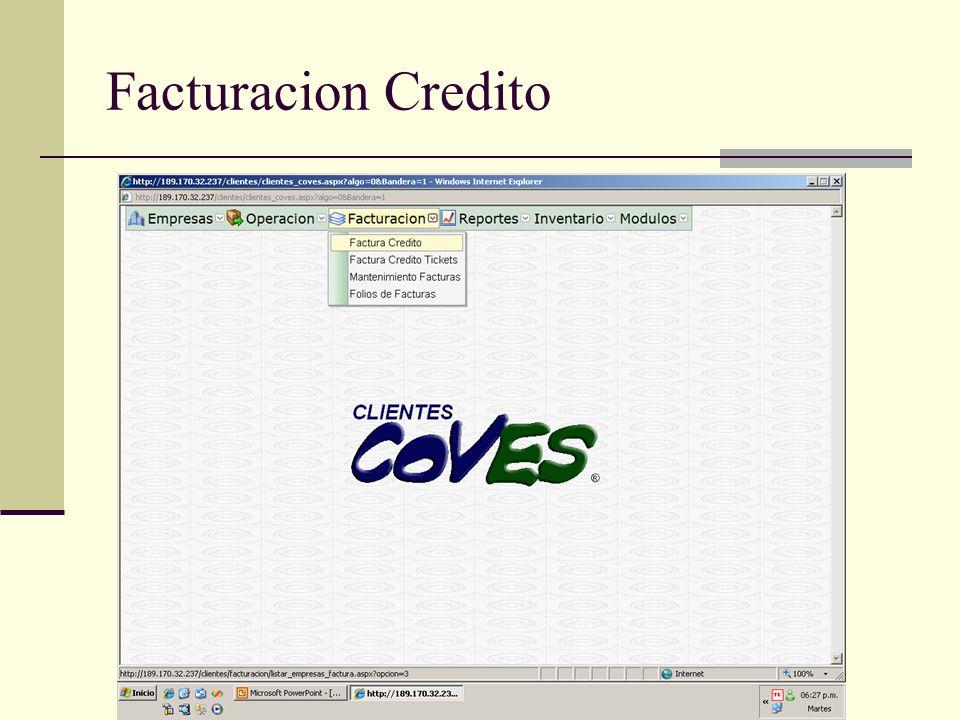 Facturacion Credito