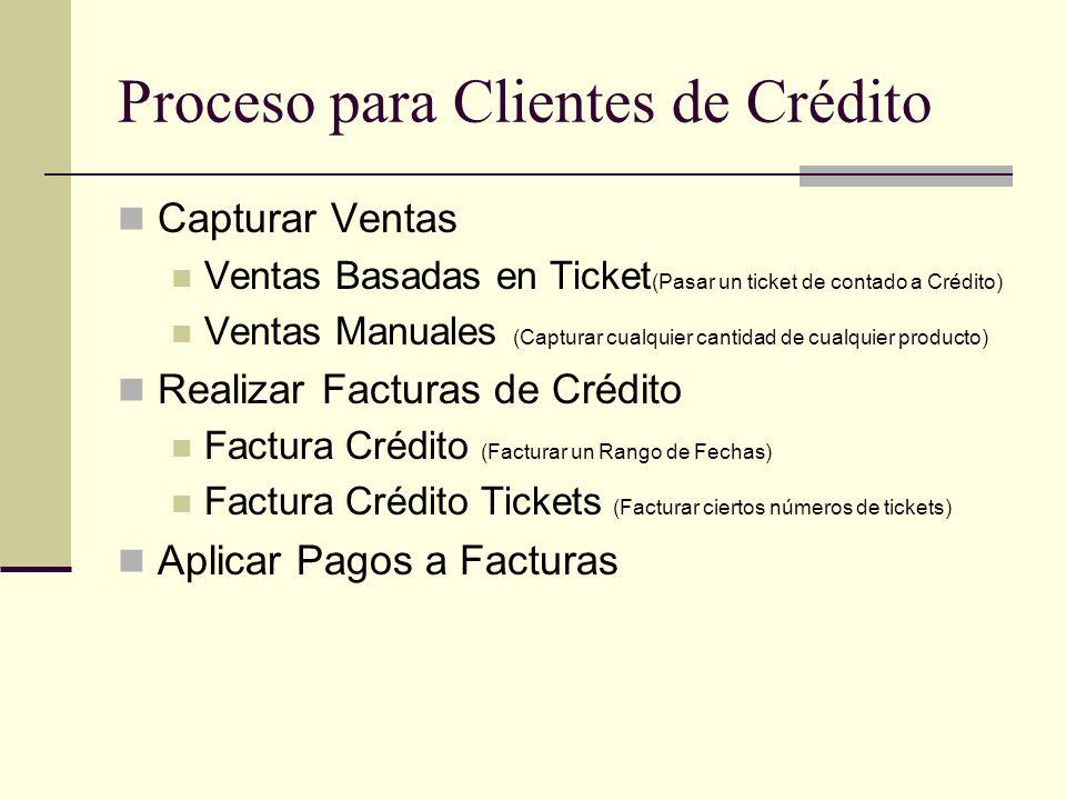 Proceso para Clientes de Crédito