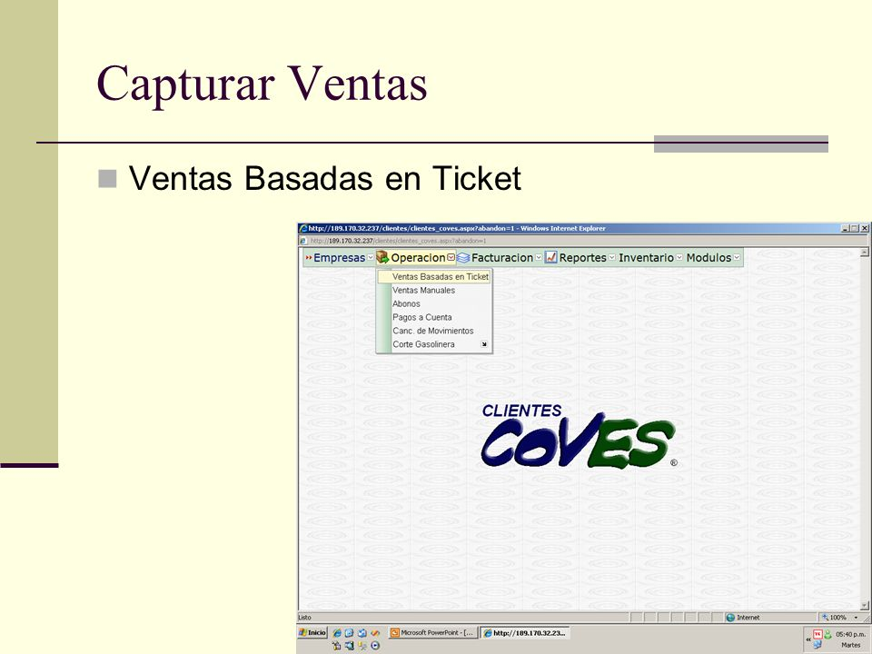 Capturar Ventas Ventas Basadas en Ticket