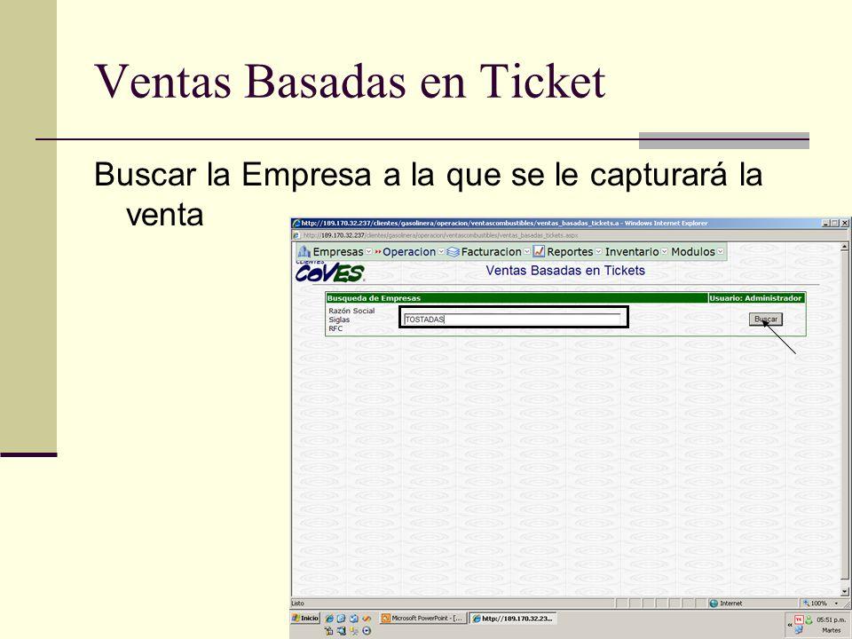 Ventas Basadas en Ticket