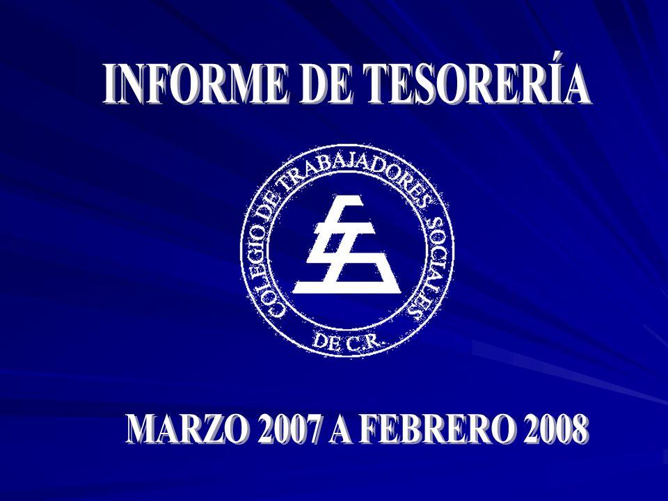 INFORME DE TESORERÍA MARZO 2007 A FEBRERO 2008