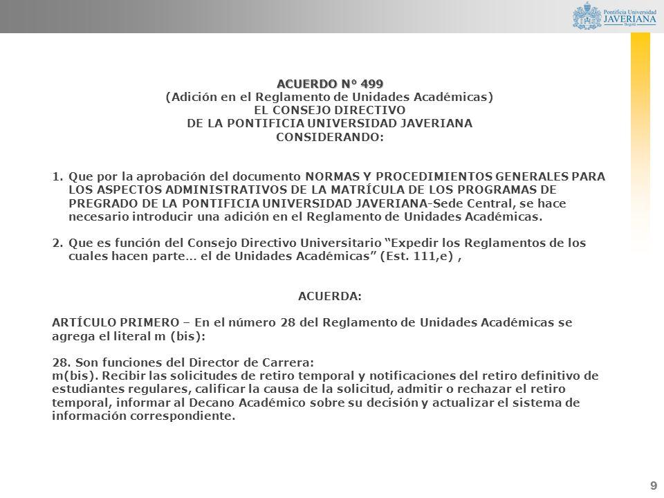 (Adición en el Reglamento de Unidades Académicas) EL CONSEJO DIRECTIVO