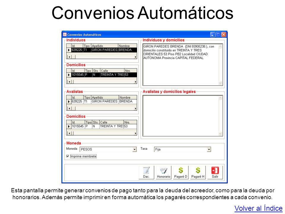 Convenios Automáticos