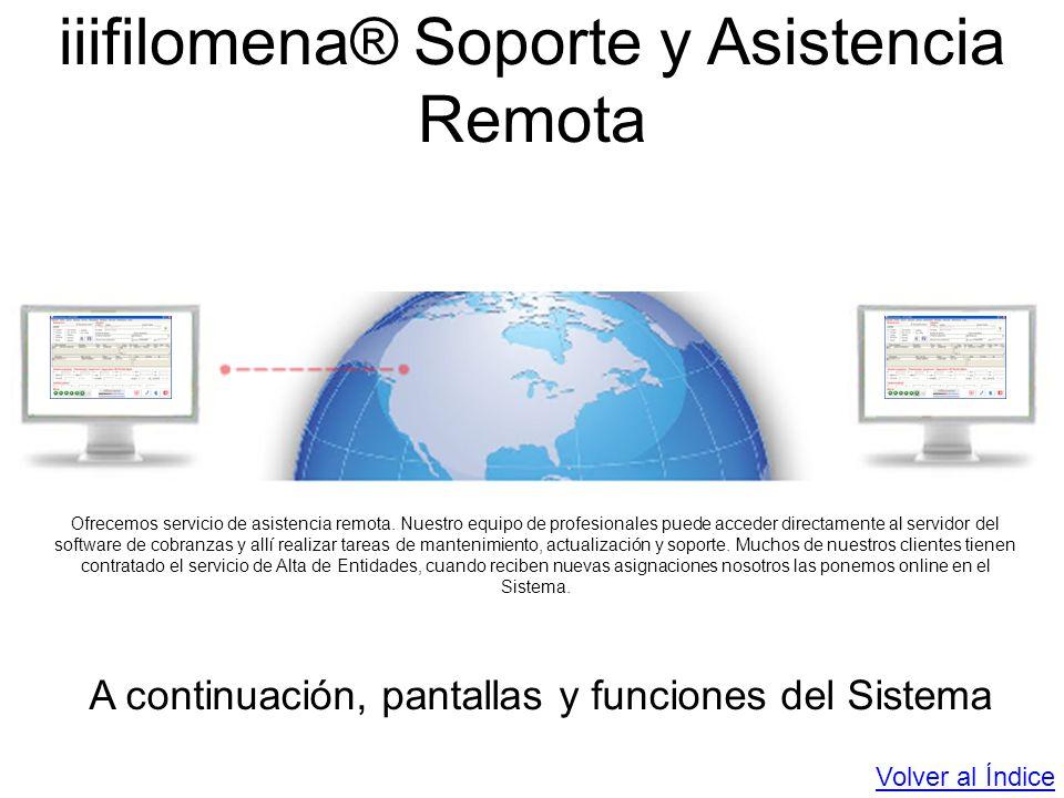 iiifilomena® Soporte y Asistencia Remota