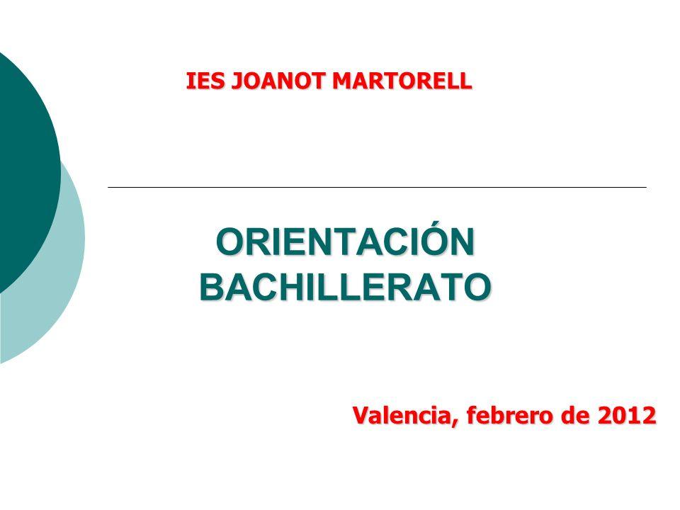 ORIENTACIÓN BACHILLERATO