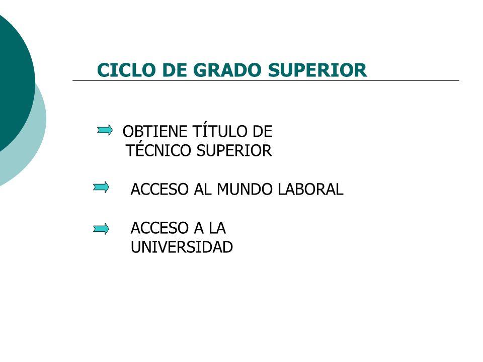 CICLO DE GRADO SUPERIOR
