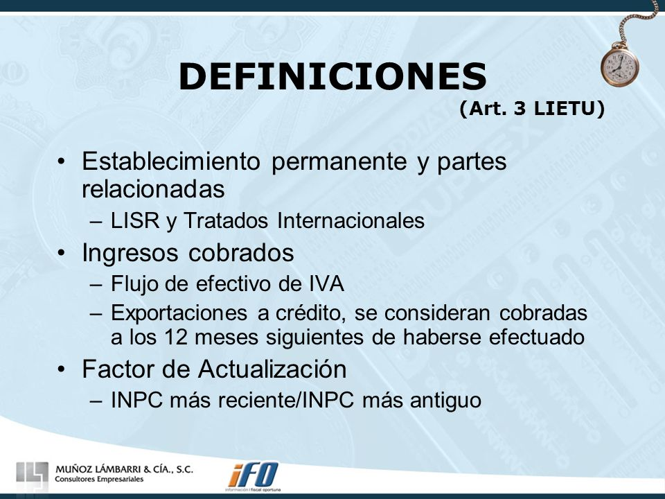 DEFINICIONES (Art. 3 LIETU)