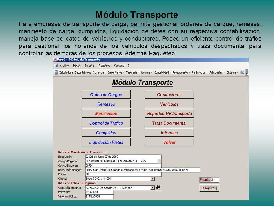 Módulo Transporte