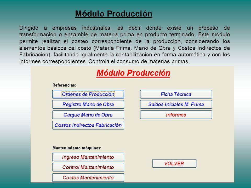 Módulo Producción