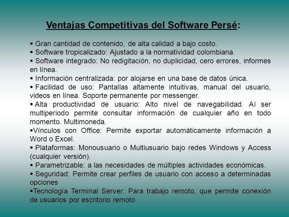 Ventajas Competitivas del Software Persé: