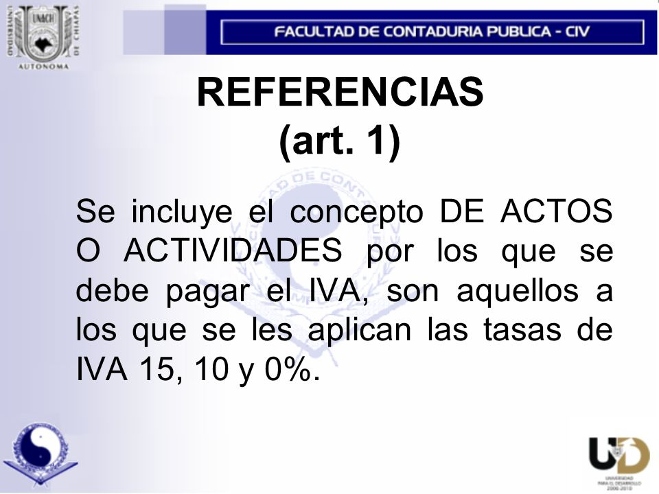 REFERENCIAS (art. 1)
