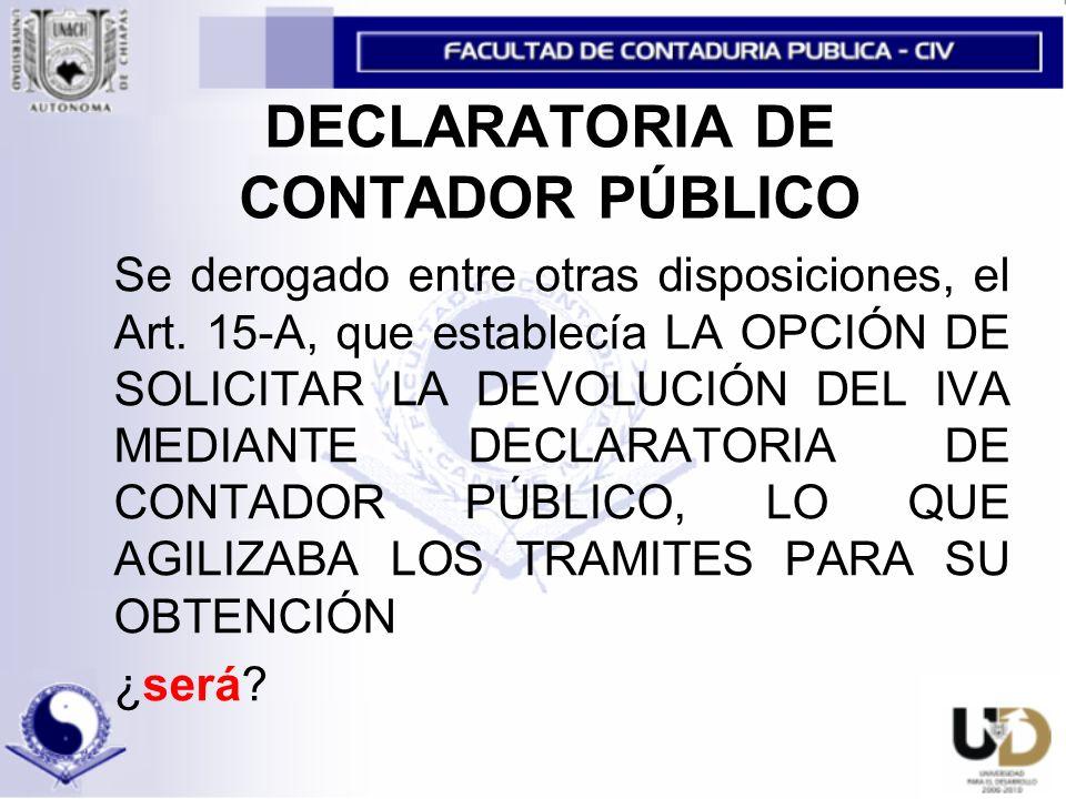 DECLARATORIA DE CONTADOR PÚBLICO