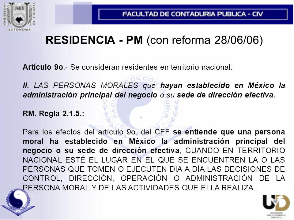 RESIDENCIA - PM (con reforma 28/06/06)