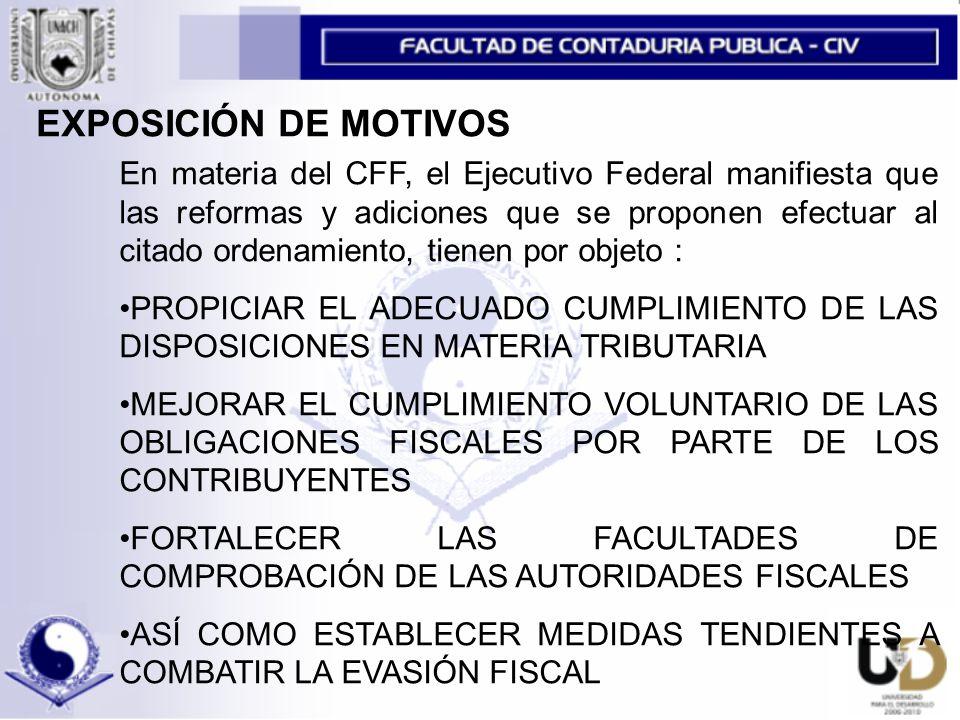 EXPOSICIÓN DE MOTIVOS