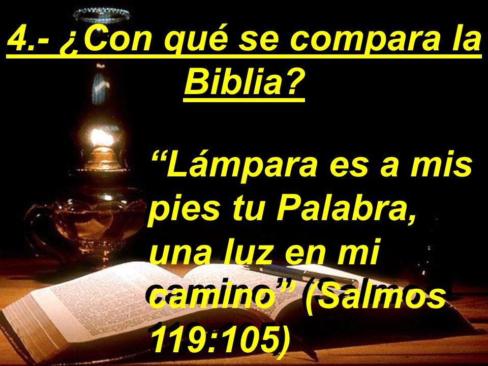 4.- ¿Con qué se compara la Biblia