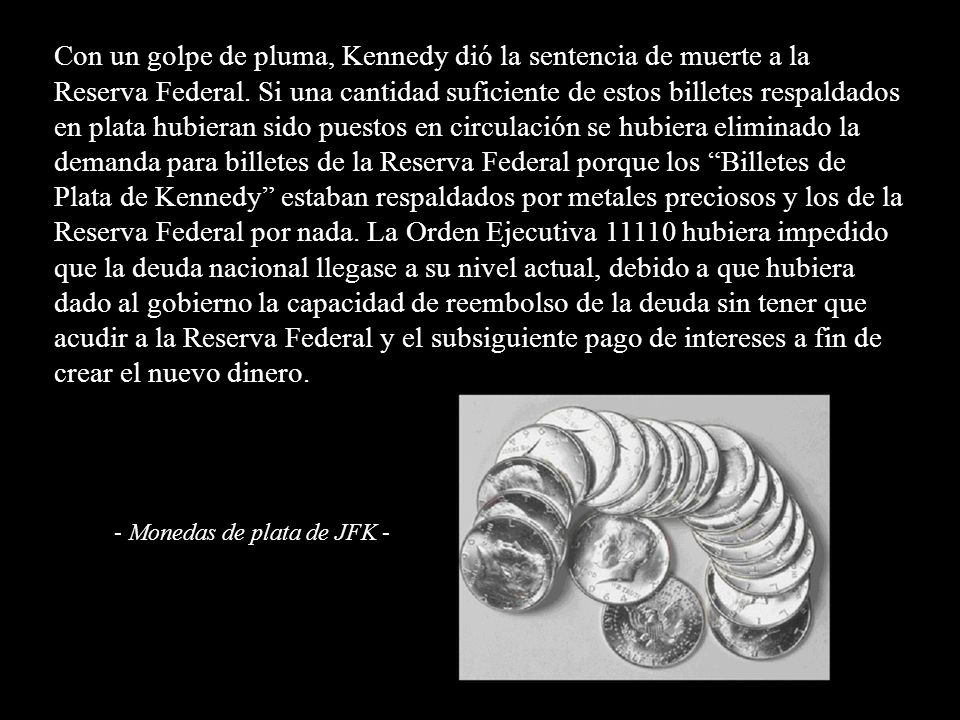 - Monedas de plata de JFK -