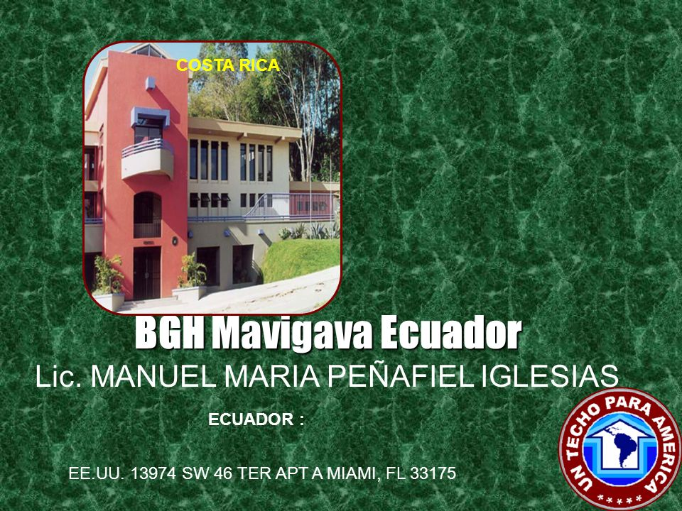 BGH Mavigava Ecuador Lic. MANUEL MARIA PEÑAFIEL IGLESIAS