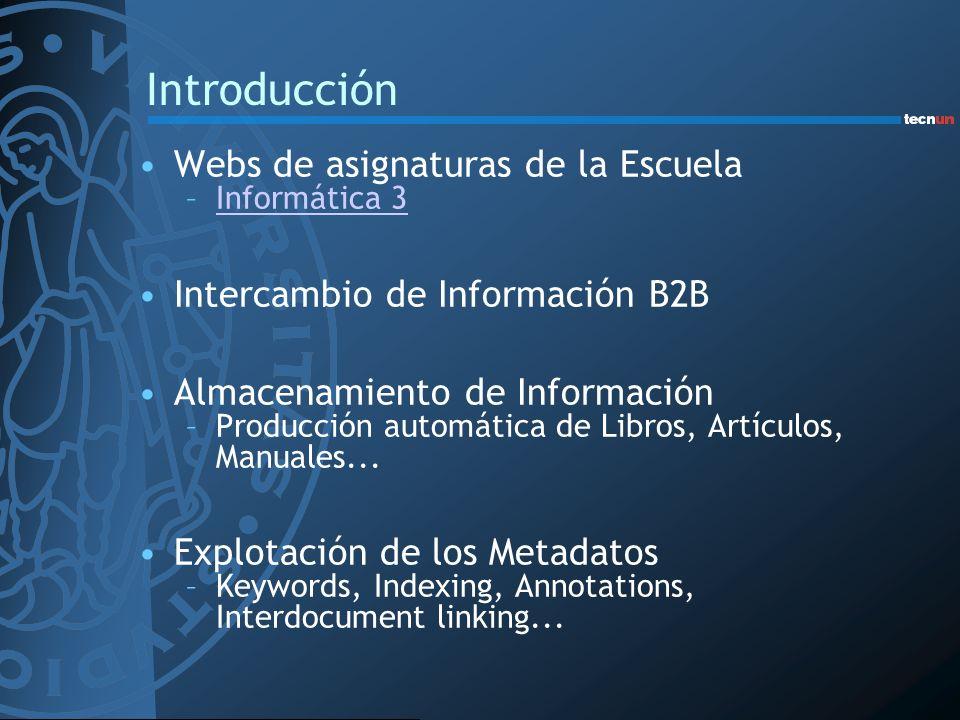 Introducción Webs de asignaturas de la Escuela