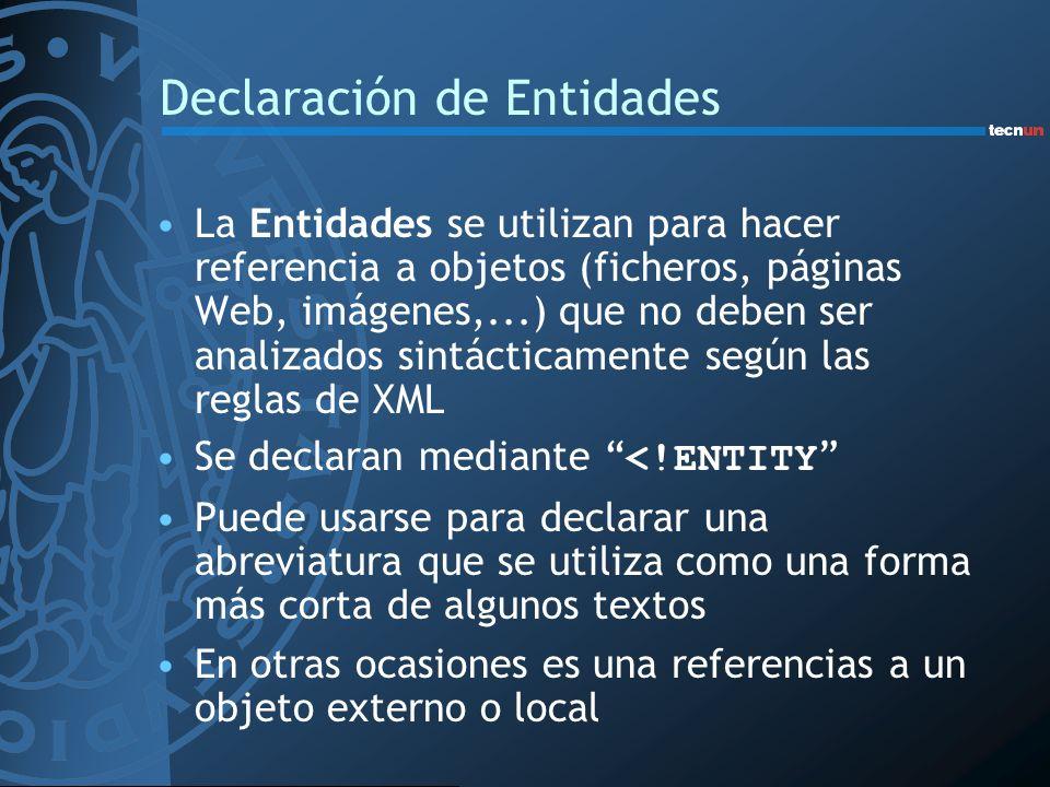 Declaración de Entidades