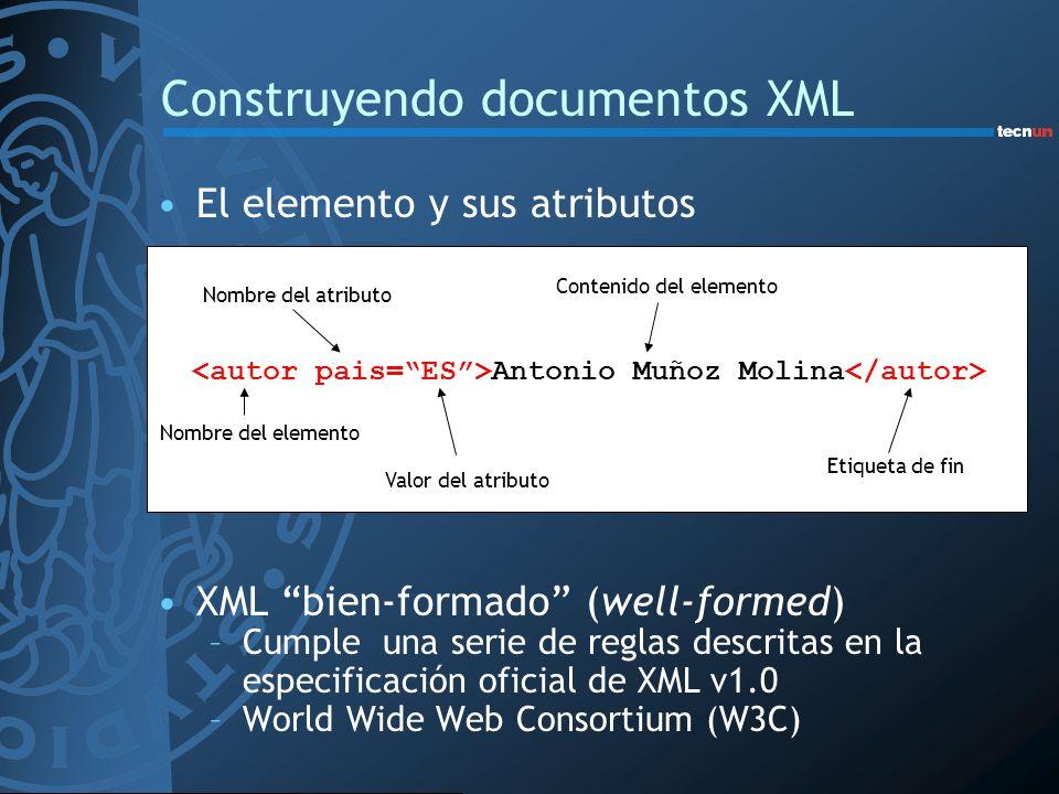Construyendo documentos XML