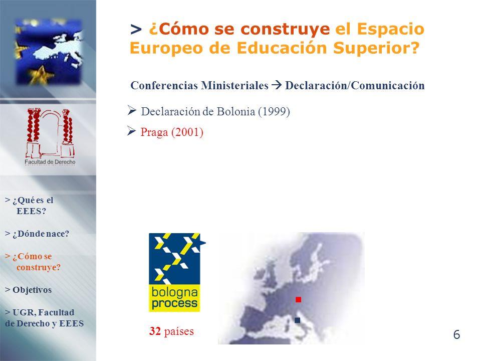 > ¿Cómo se construye el Espacio Europeo de Educación Superior