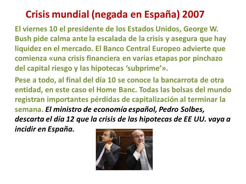 Crisis mundial (negada en España) 2007