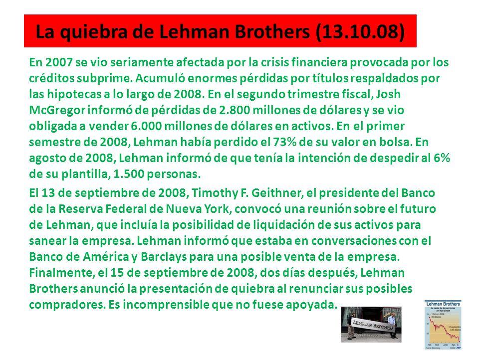 La quiebra de Lehman Brothers (13.10.08)