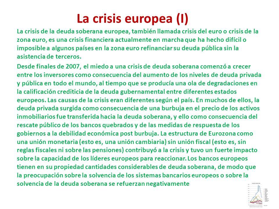 La crisis europea (I)