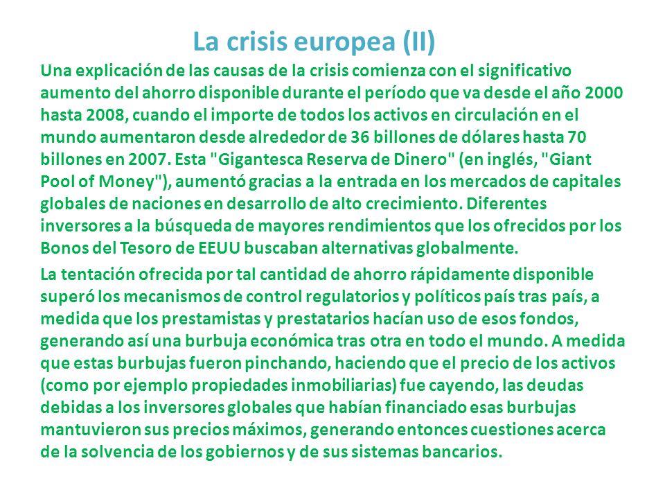 La crisis europea (II)