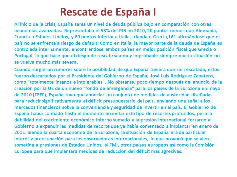 Rescate de España I