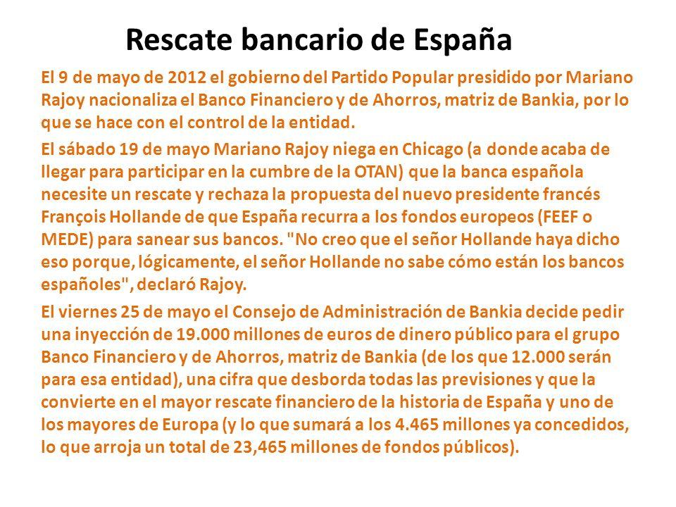 Rescate bancario de España