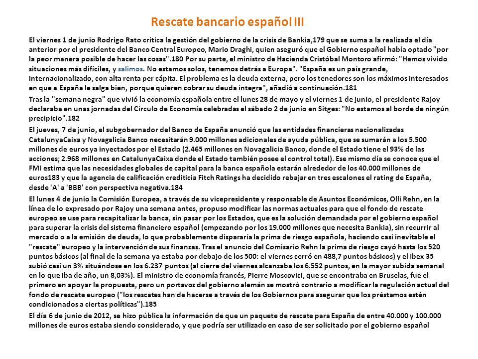 Rescate bancario español III